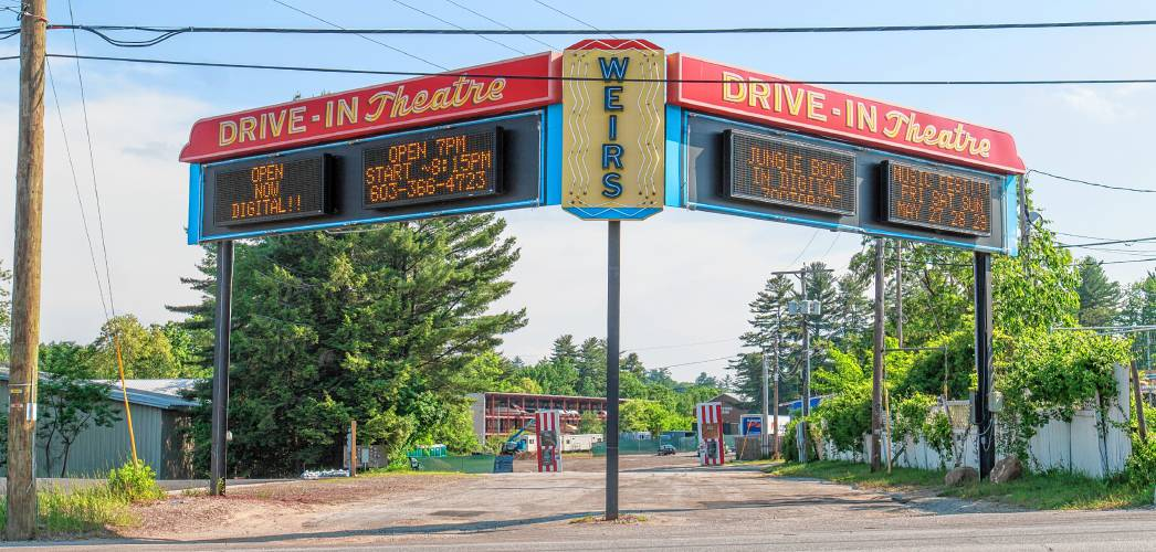 Weirs beach drive in theater
