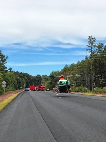 Bicyclist struck on Route 106 in Gilmanton