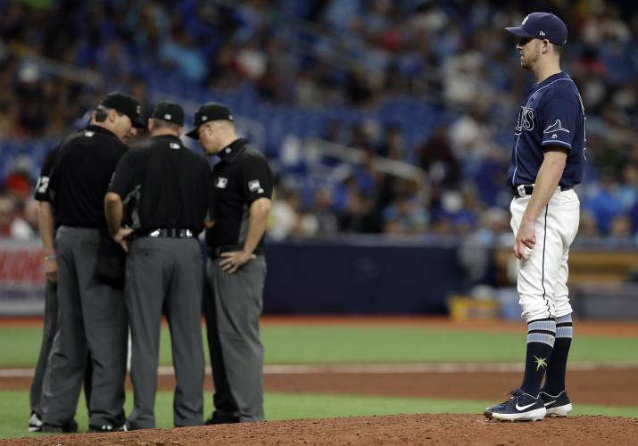 Substitution leads to Red Sox protest of 3-2 loss to Rays
