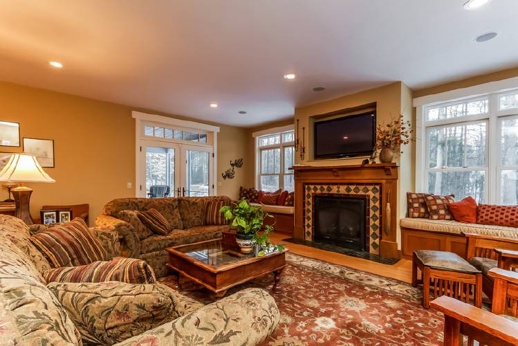 A detailed home with abundance of space for Living room with 10 foot ceiling
