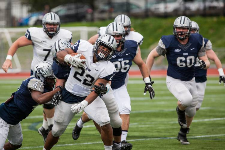 Bryant Gray Pace Running Backs At Unh Spring Practice