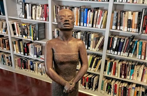 Andover artist's sculpture of singer, slave joins exhibit
