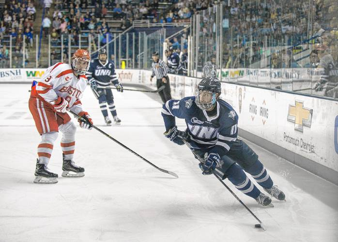 Unh Hockey Wildcats Fall To Bu In Third Period Blunder