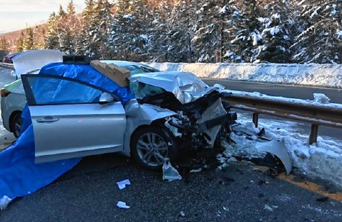 Man dies in crash in Franconia Notch, puppy survives