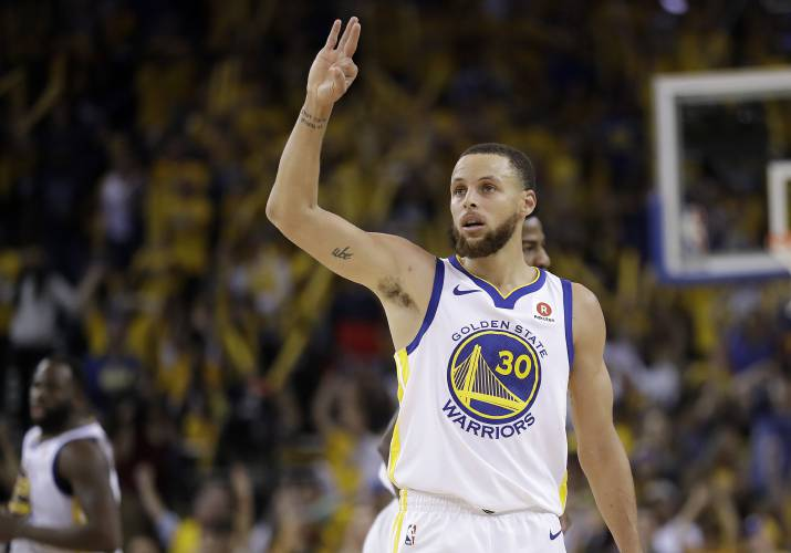 630942da503 Golden State Warriors guard Stephen Curry (30) gestures during the second  half of Game 6 of the NBA basketball Western Conference Finals against the  Houston ...