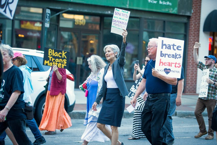 Image result for jill stein protesting