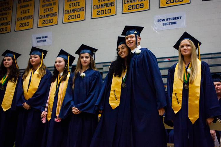bow high school students graduate with messages given