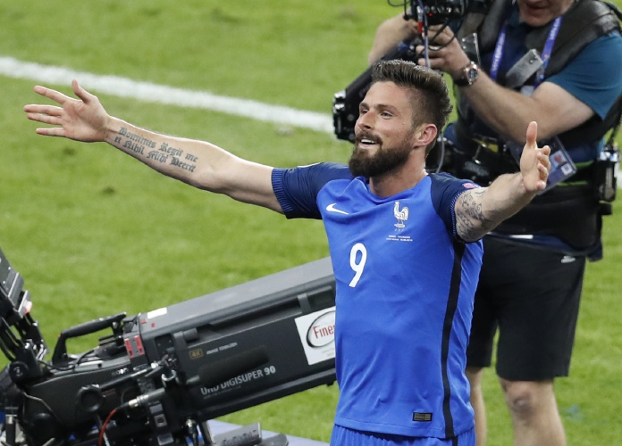 French Forward Olivier Giroud Answers Critics With An Opening Goal