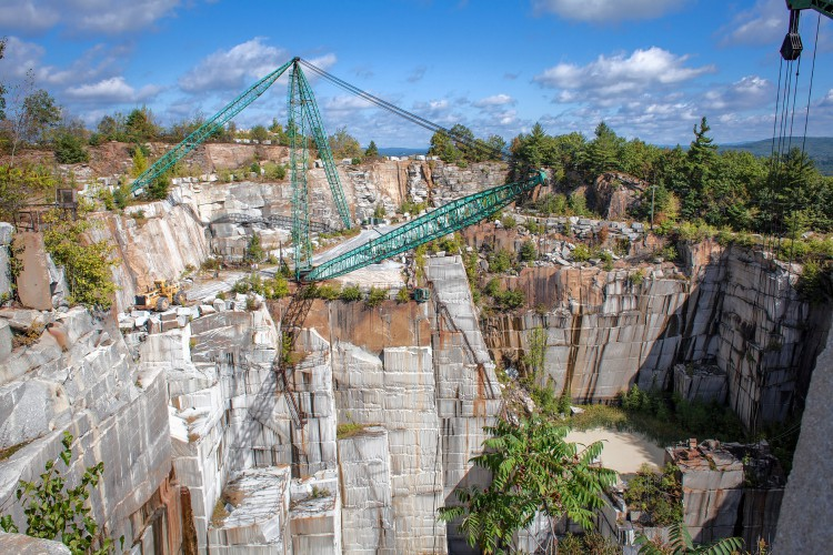 Looking Back At Four Generations Of Swenson Granite And Down Into A 350 Foot Deep Quarry