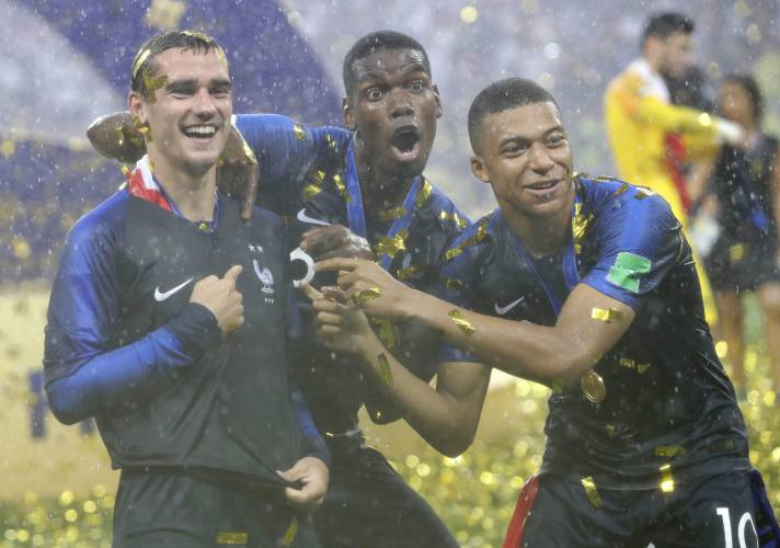new arrivals 73a55 304cd At World Cup final, Mbappe, just 19, joins Pele