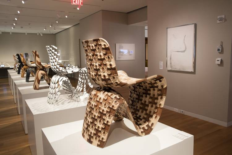 28 2017 photo provided by the cooper hewitt smithsonian design museum shows an installation view of joris laarman lab design in the digital age in