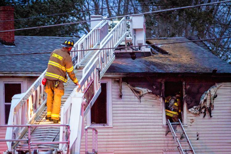 Two Concord residents displaced by two-alarm fire