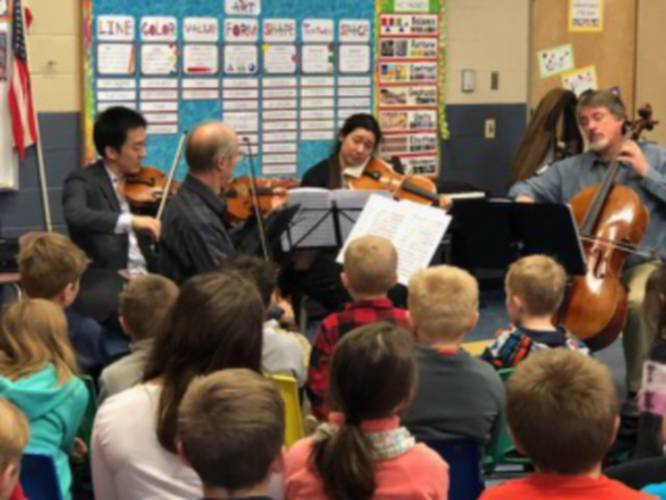 Symphony N.H. String Quartet performs in local schools