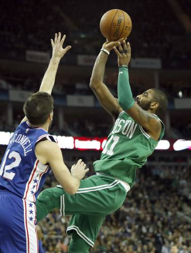 18fcd323687b Celtics overcome 22-point deficit to beat 76ers in London