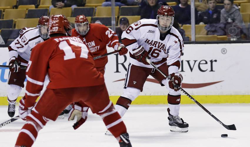 New Bruins sensation Ryan Donato excused from practice to finish Harvard coursework