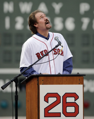 best service 0e302 8c193 Boggs has number 26 retired by Red Sox