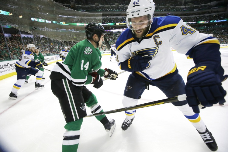 Blues even series on Backes' OT game-winner, beat Stars 4-3