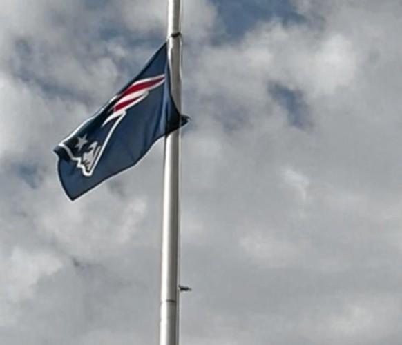 Patriots Flag Flies Over Atlanta Motor Speedway