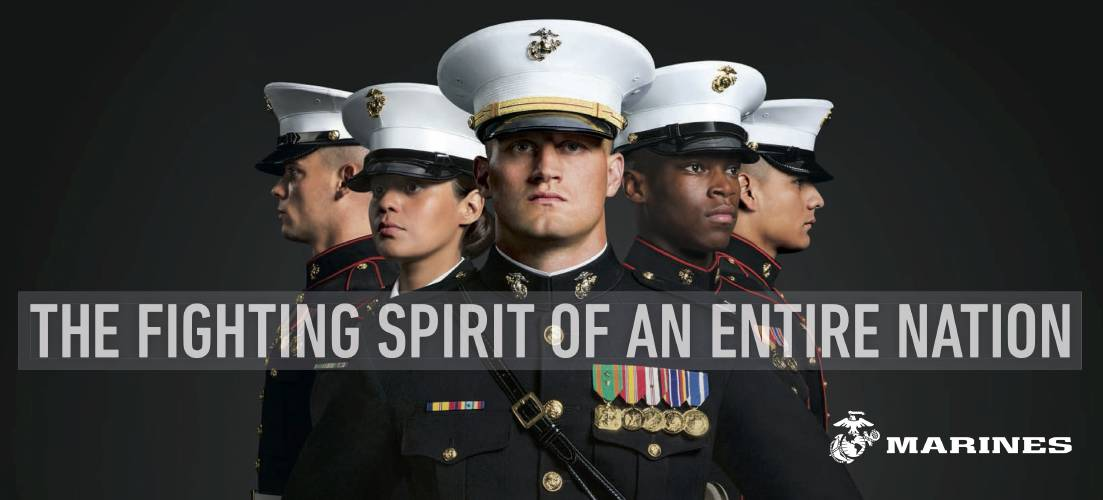 Toys For Tots Slogan : In new recruitment ads marines shown as good citizens