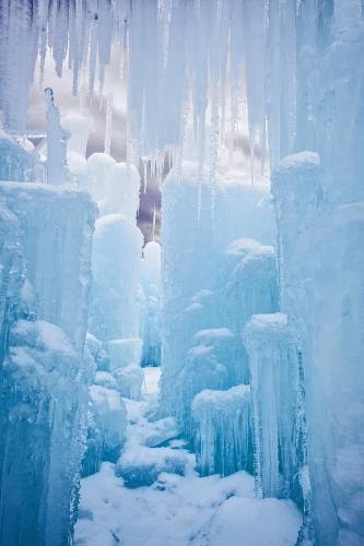 To build a castle out of ice, start with 5,000 icicles – or