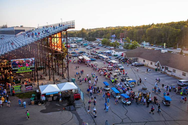 Crowds Disperse At The Conclusion Of The Ism Connect 300 Nascar Sprint Cup Series Auto Race At New Hampshire Motor Speedway In Loudon On Sunday Sept