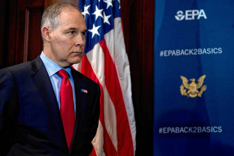editorial the end of the line for scott pruitt