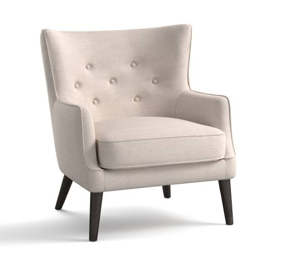 This Undated Photo Provided By Pottery Barn Shows The Manning Upholstered Wing  Chair From Pottery Barn. Slim Profiled Yet Comfortable, The Manning Wing ...