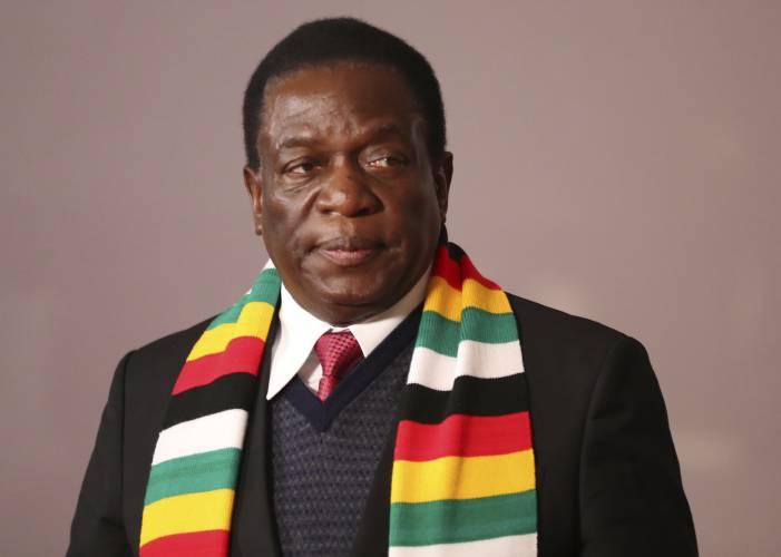 Zimbabwes President Emmerson Mnangagwa At The Brics Summit In Johannesburg South Africa Friday July 27 2018 Zimbabwe Goes To The Polls Monday After