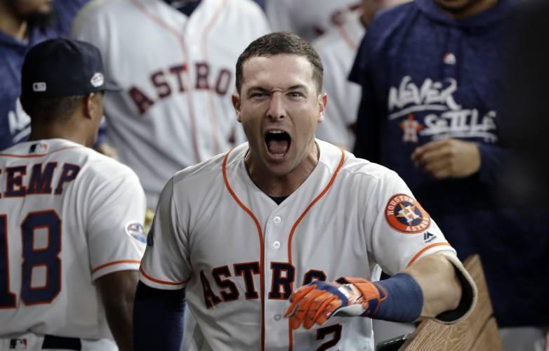 Astros hit 4 homers during 7-2 win over Indians in ALDS opener