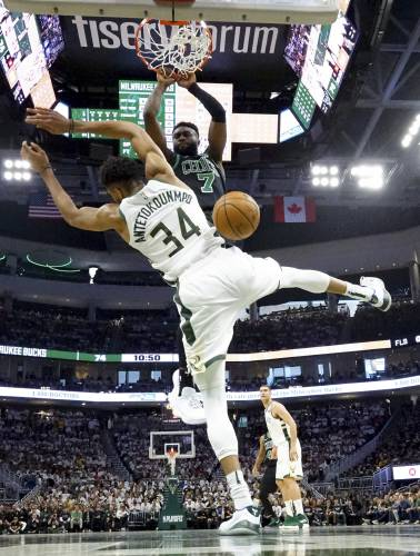 ba01109d8 Celtics make statement to Bucks with 112-90 victory in Game 1