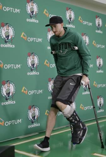 Celtics' Hayward working way back from gruesome leg injury