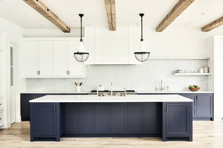 This Undated Photo Shows An Urban Farmhouse Style Kitchen In A Manhattan  Beach, Calif., Home Designed By Betsy Burnham, Where The Kitchen Island  Offers ...