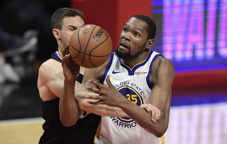 8a764a4e7447 Durant scores 50 as Warriors oust Clippers