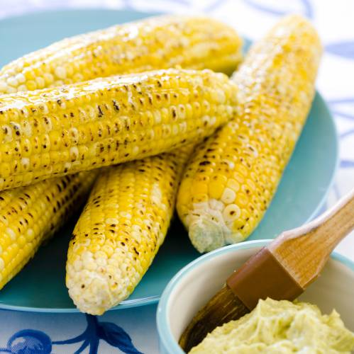 Perfectly grill corn with ears unhusked
