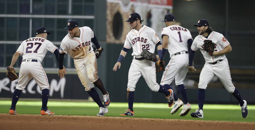 37e4b78ad Astros hit 4 homers during 7-2 win over Indians in ALDS opener