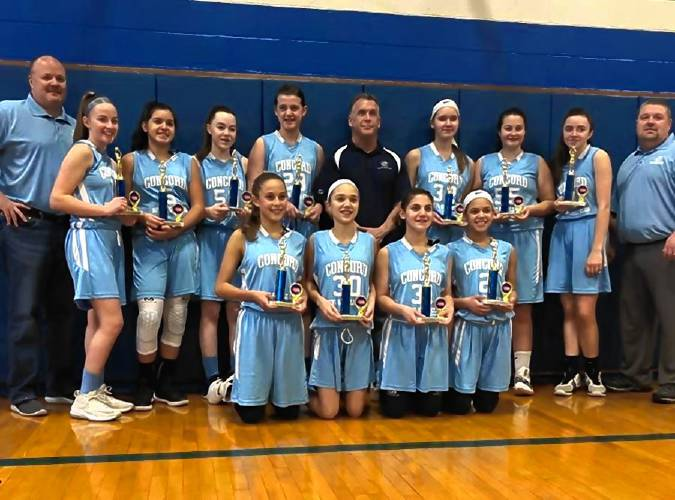 The Concord Boys   Girls Club eighth-grade girls  basketball went  undefeated this past weekend to win the 40th Annual Merrimack Basketball  Tournament. f82389ecba2d
