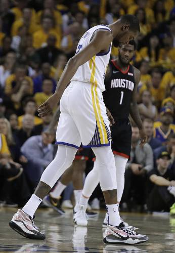 9c1d73d08d38 Warriors star Kevin Durant out for rest of West semifinals
