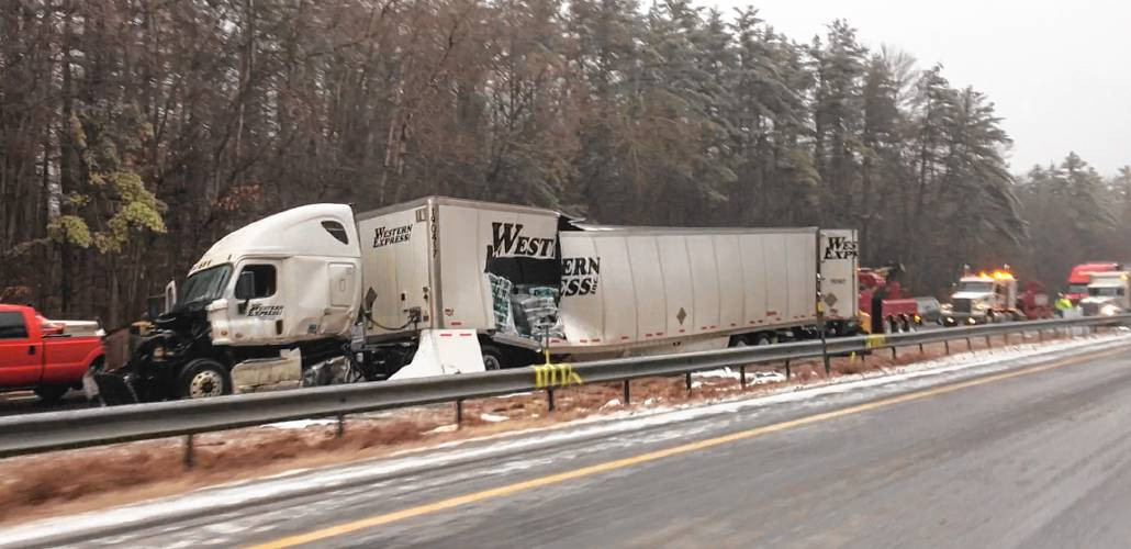 Multiple crashes reported as freezing rain snarls traffic in