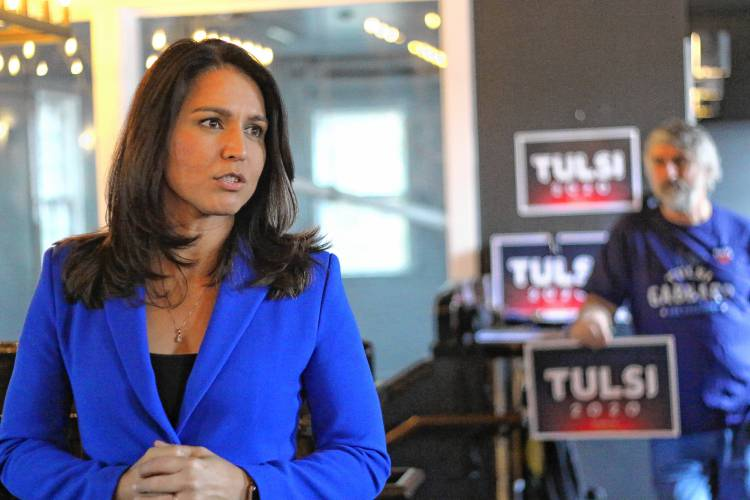 On the trail: Gabbard keeps targeting Harris but says 'it's not