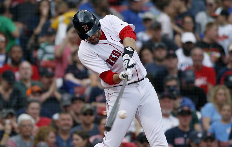 just dingers martinez powers red sox past orioles 5 0